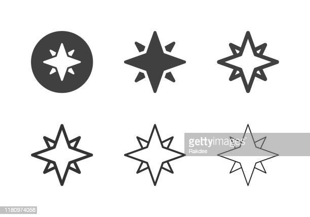 north star icons - multi series - north star stock illustrations