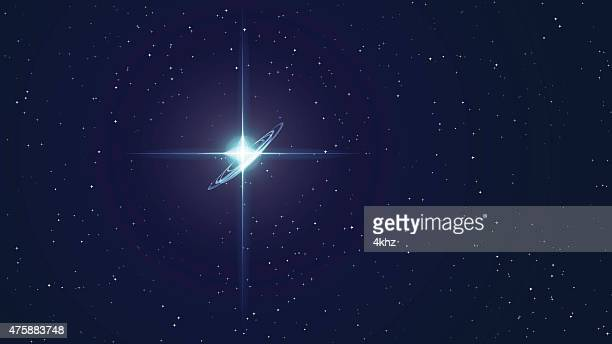 north star stock vector space background - north star stock illustrations