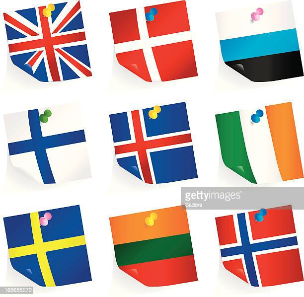 Northern Europäische Union Flaggen