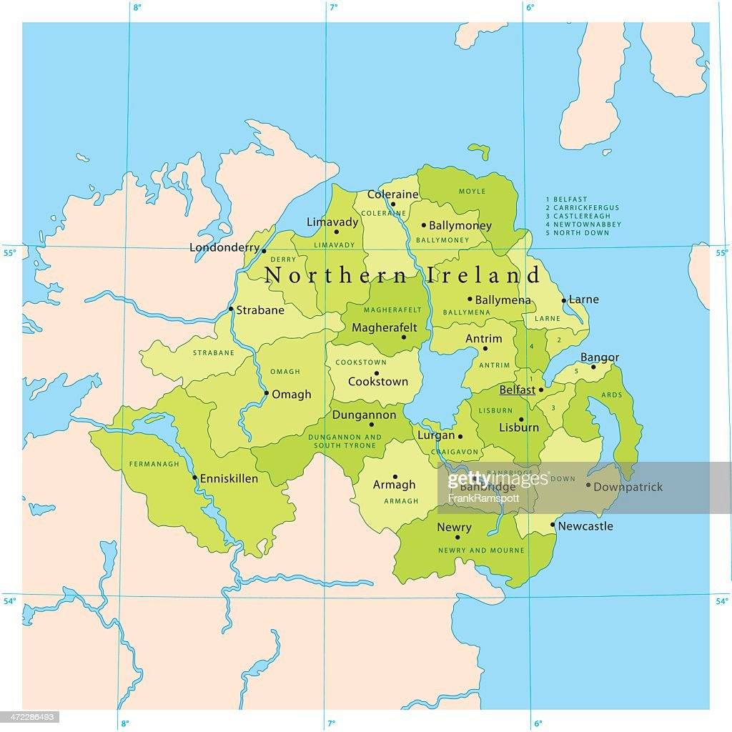 Northern ireland vector map vector art getty images northern ireland vector map vector art gumiabroncs Images