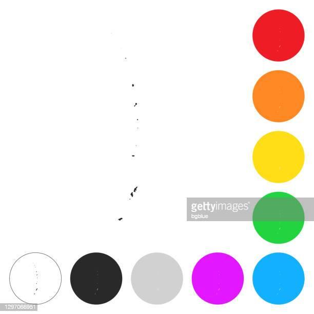 北マリアナ諸島マップ - 異なるカラーボタン上のフラットアイコン - 北マリアナ諸島点のイラスト素材/クリップアート素材/マンガ素材/アイコン素材