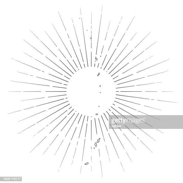 北マリアナ諸島地図は白い背景に太陽の光を持つ - 北マリアナ諸島点のイラスト素材/クリップアート素材/マンガ素材/アイコン素材