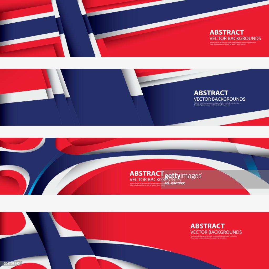 Norway Abstract Background, Norwegian Flag (Vector Art)