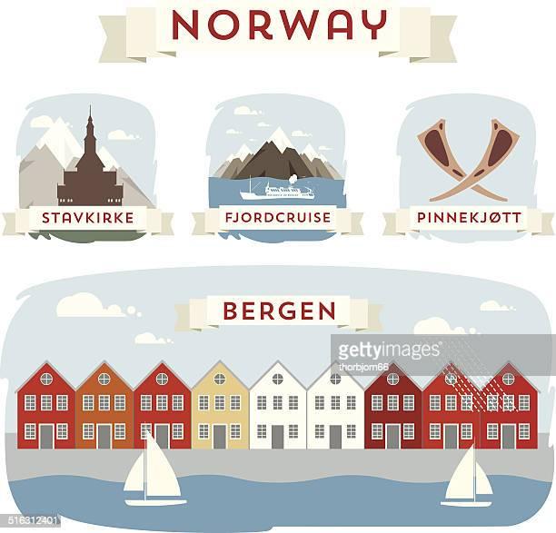 norwegen banner - norwegen stock-grafiken, -clipart, -cartoons und -symbole