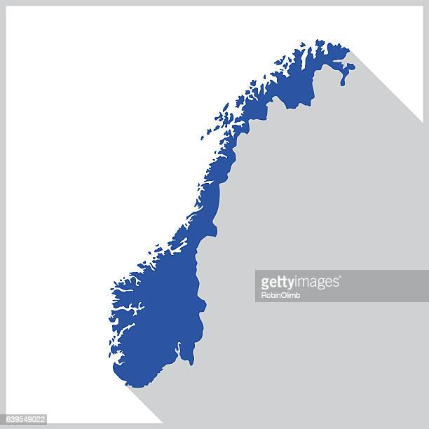 Norway Blue Map Icon