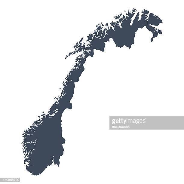 Norway country map