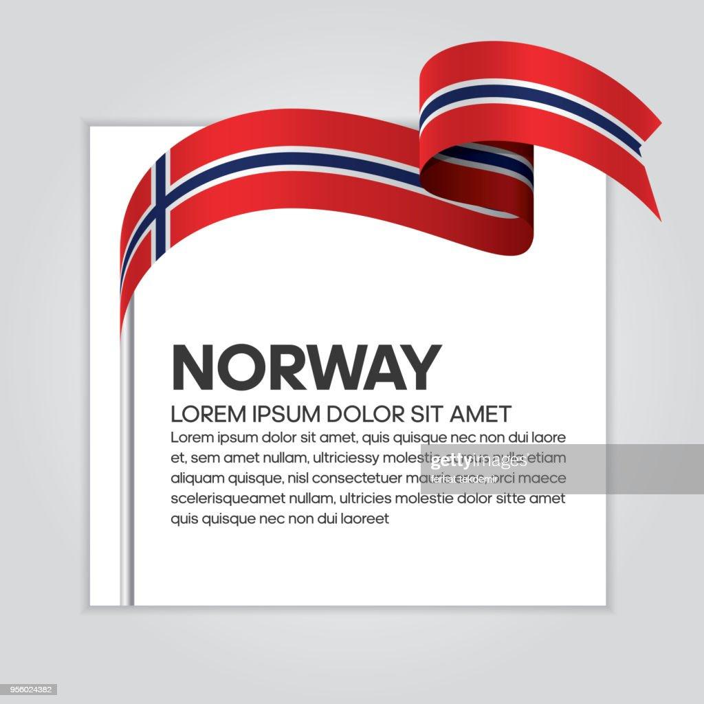 Norway flag background
