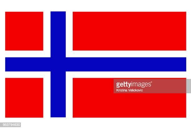 norwegische flagge  - norwegische flagge stock-grafiken, -clipart, -cartoons und -symbole