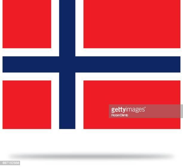 norwegen fahne mit schatten - norwegische flagge stock-grafiken, -clipart, -cartoons und -symbole
