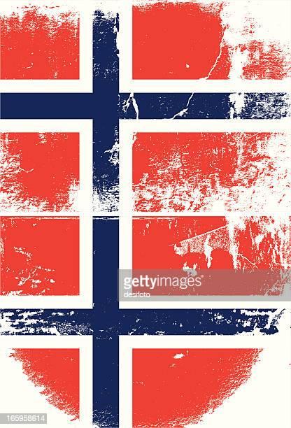 norwegen grunge flagge - norwegische flagge stock-grafiken, -clipart, -cartoons und -symbole