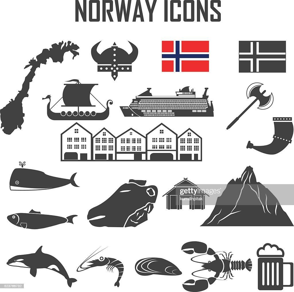 norway icon set.