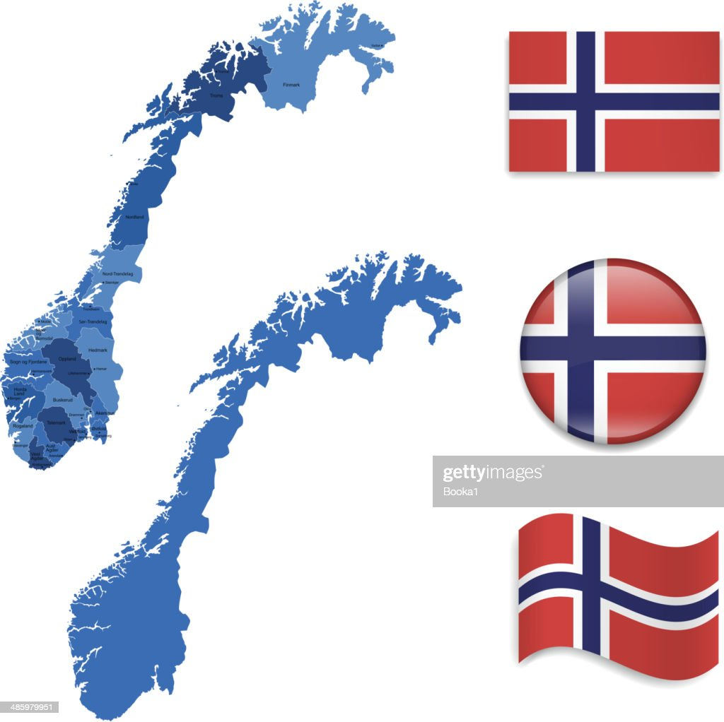 Norway Map and Flag Collection
