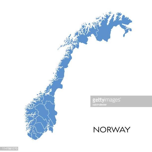 norwegen-karte - norwegen stock-grafiken, -clipart, -cartoons und -symbole
