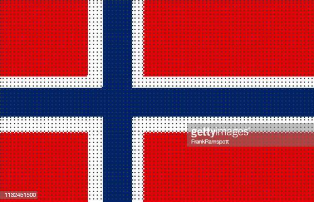 Norwegen pixelte Vektorflagge