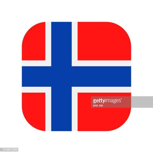 Norwegen - quadratische Vektor flache Flaggensymbol