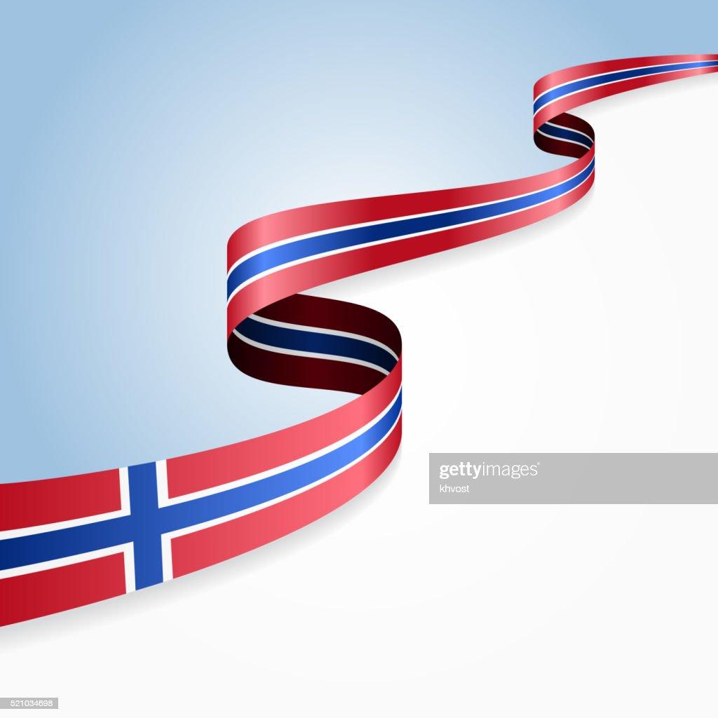 Norwegian flag background. Vector illustration