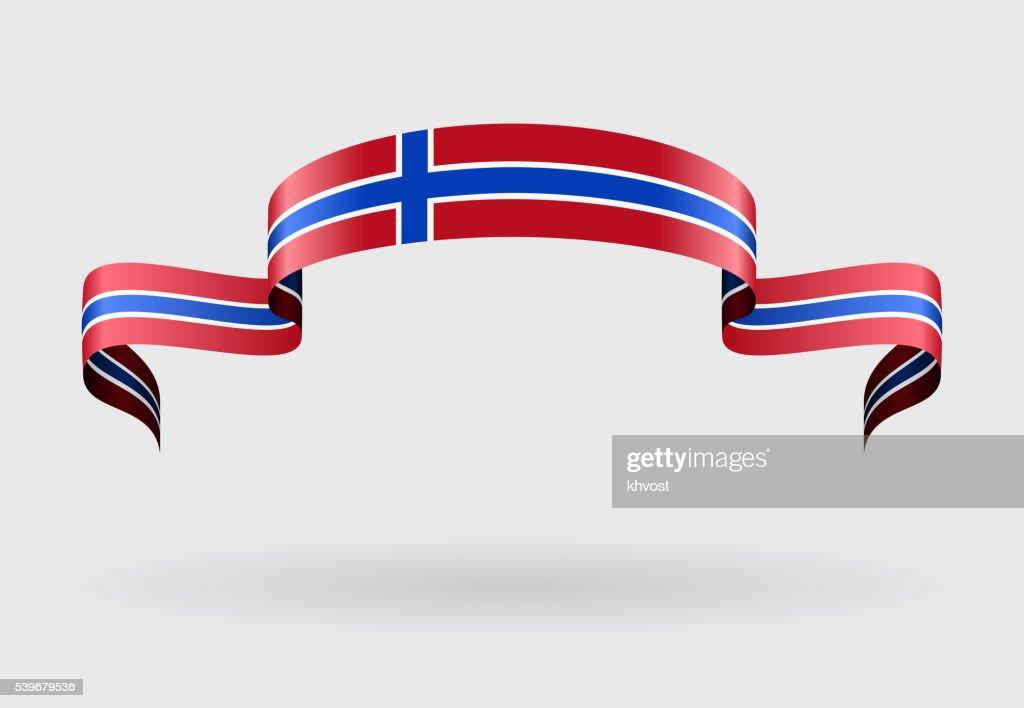 Norwegian flag background. Vector illustration.