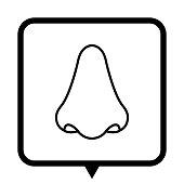 Nose - black vector icon