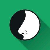 Nose  icon.