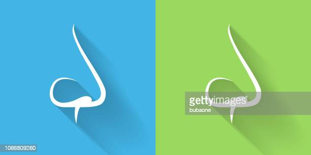 Nose Icon with Long Shadow