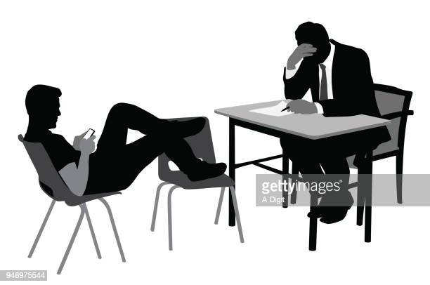 not listening discussion - mental health professional stock illustrations