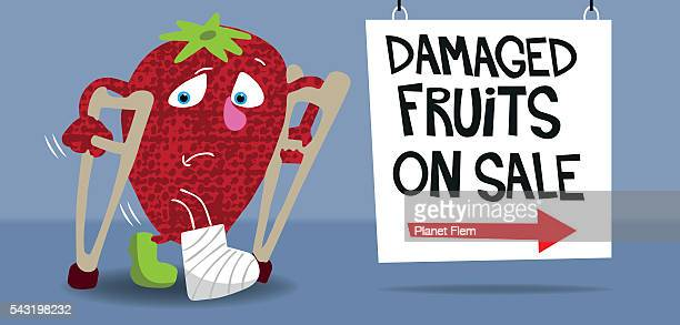 not so perfect strawberry - rotting stock illustrations, clip art, cartoons, & icons