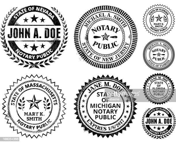 ilustrações, clipart, desenhos animados e ícones de tabelião colônia série: de nova jersey, massachusetts - great seal