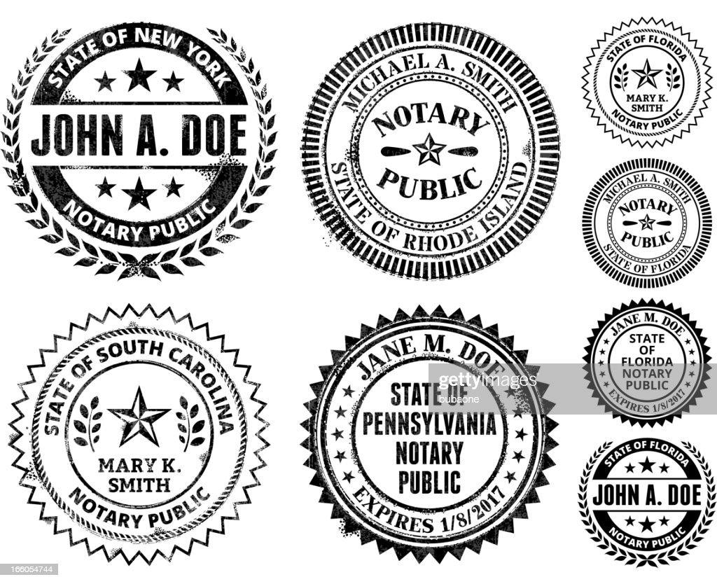 Notary Public Seal Set: New Mexico through South Carolina