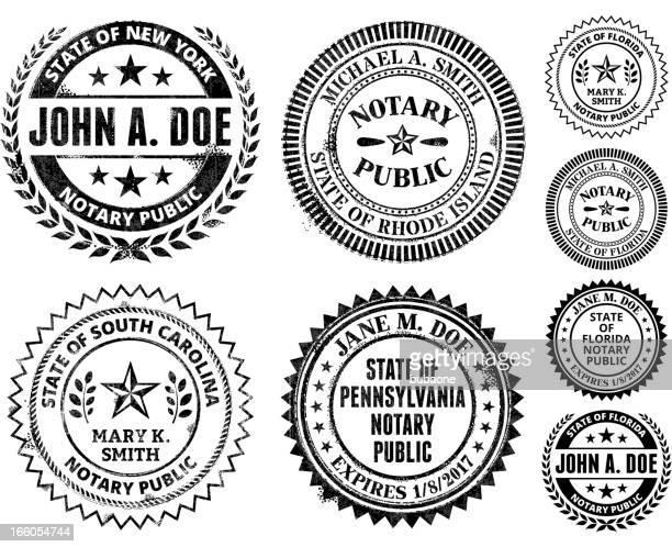 ilustrações, clipart, desenhos animados e ícones de tabelião colônia série: novo méxico na carolina do sul - great seal