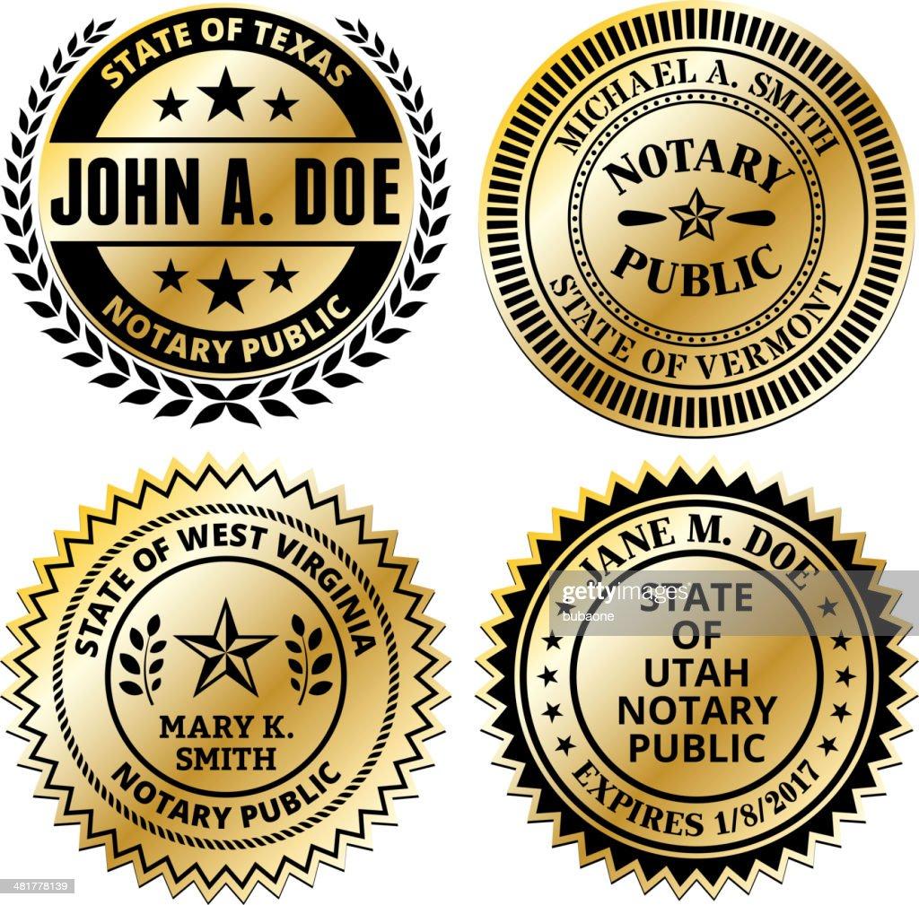 Notary Public Seal Set: South Dakota through Wyoming