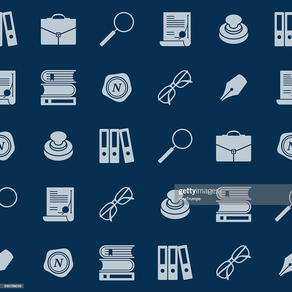 Notary tools - seamless pattern