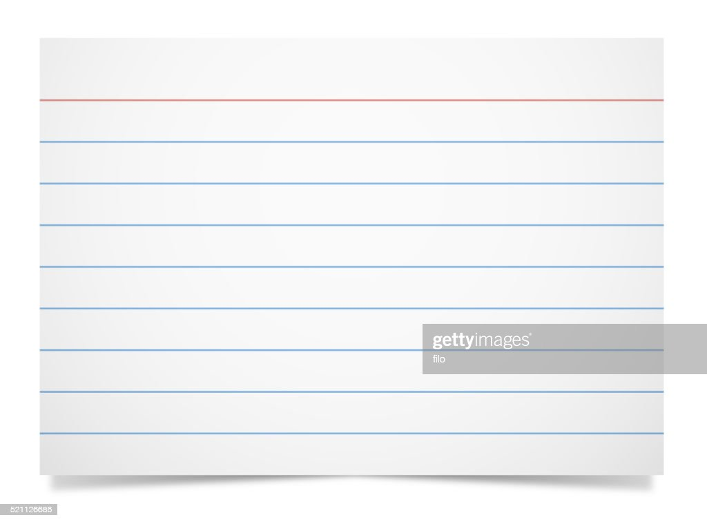 Note Card : stock illustration