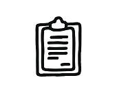 note icon hand drawn design illustration