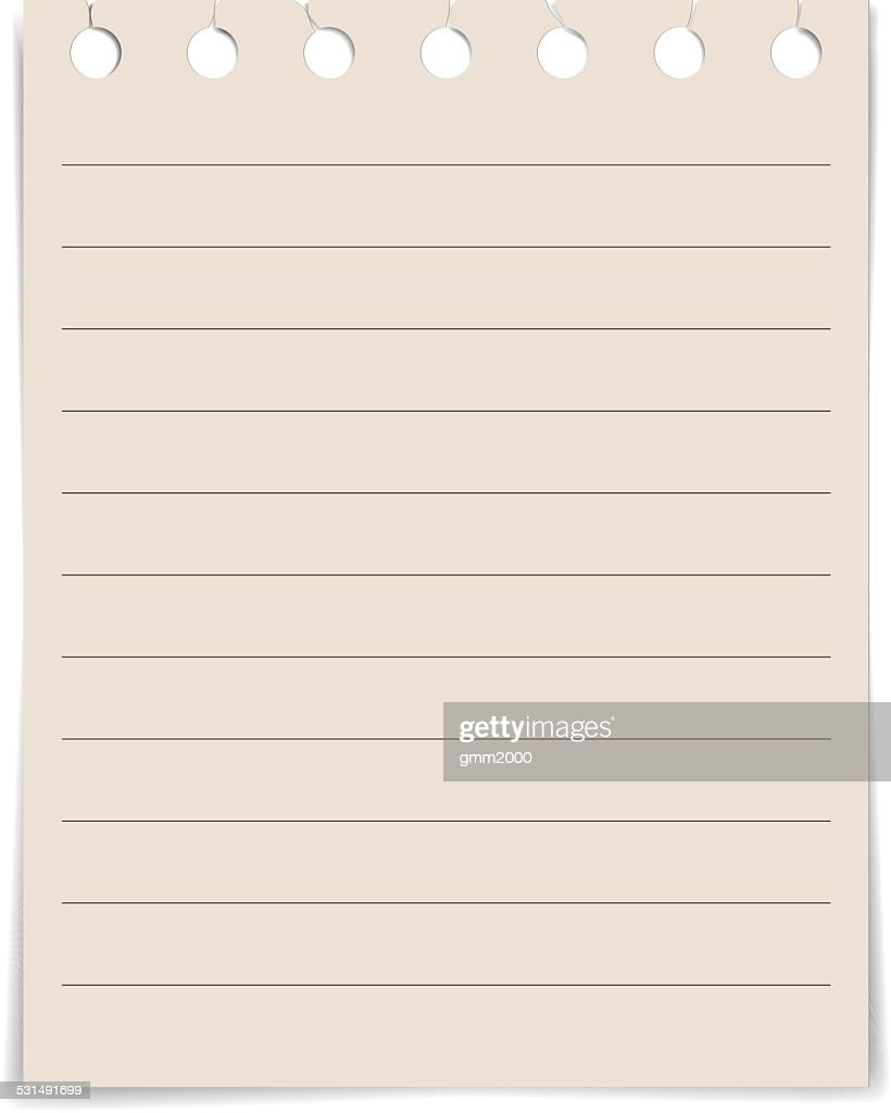 note paper lined paper textures on white background