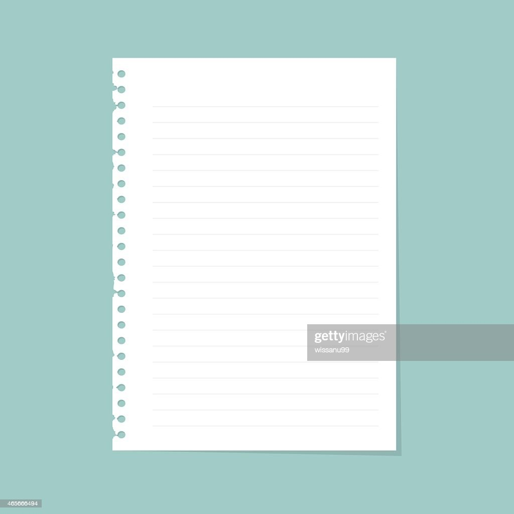 Note paper with line