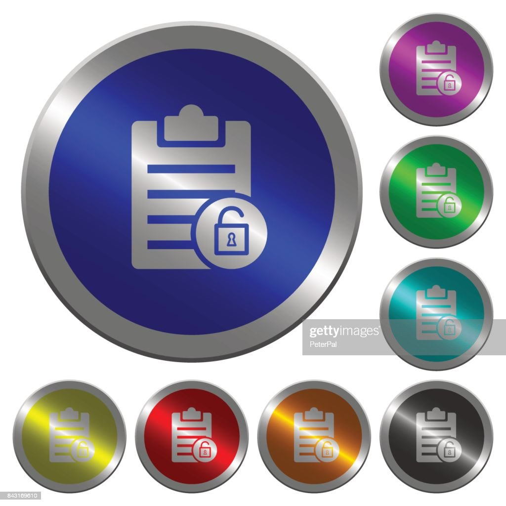 Note unlock luminous coin-like round color buttons