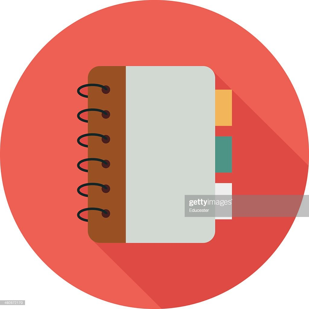 Notebook Colored Vector Illustration