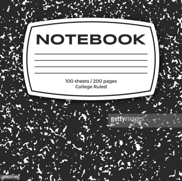 notebook cover - note pad stock illustrations