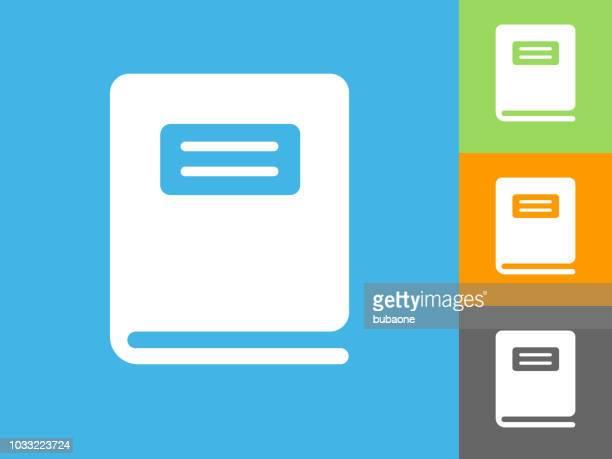 ilustrações, clipart, desenhos animados e ícones de caderno liso ícone sobre fundo azul - livro de exercícios