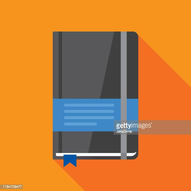 notebook icon flat 1 - workbook stock illustrations
