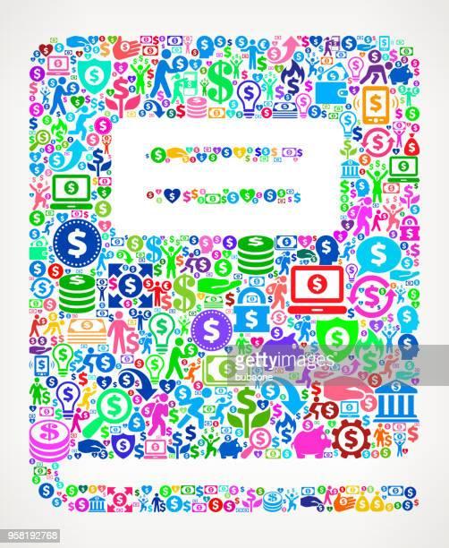 ilustrações, clipart, desenhos animados e ícones de caderno dinheiro vector ícone padrão - livro de exercícios