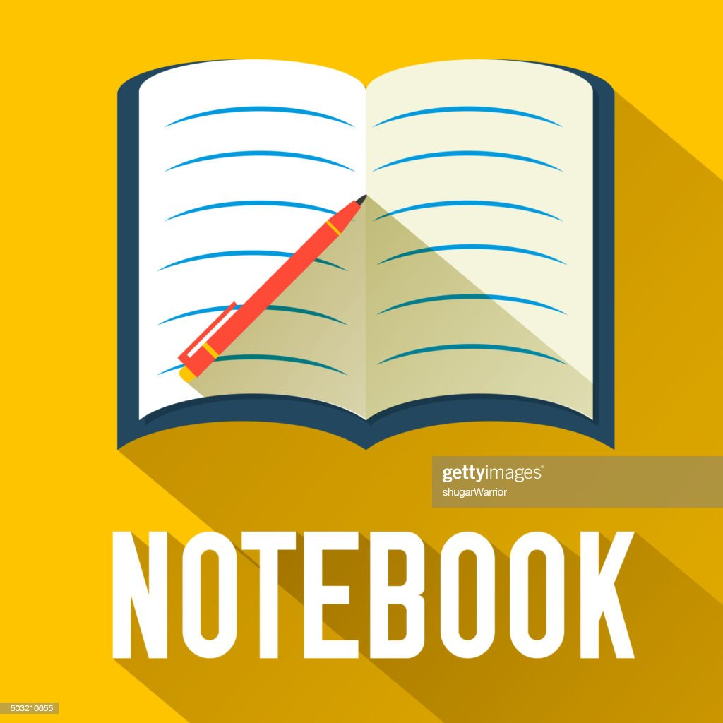 notebook of flat design icon concept
