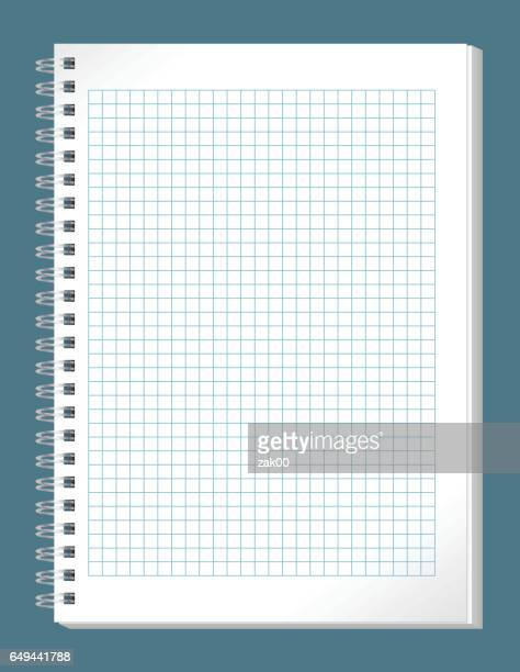 notebook - exercise book stock illustrations