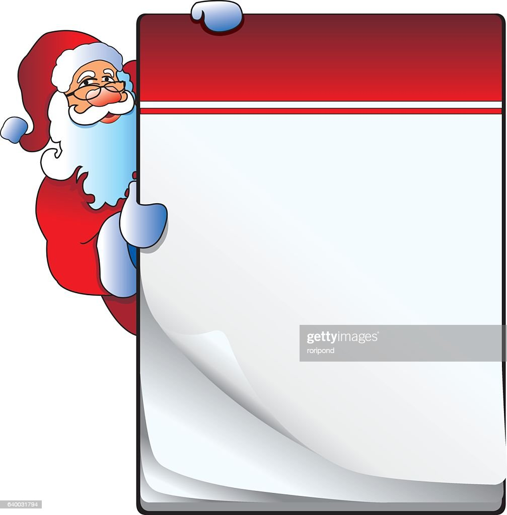 Notebook with Santa Claus