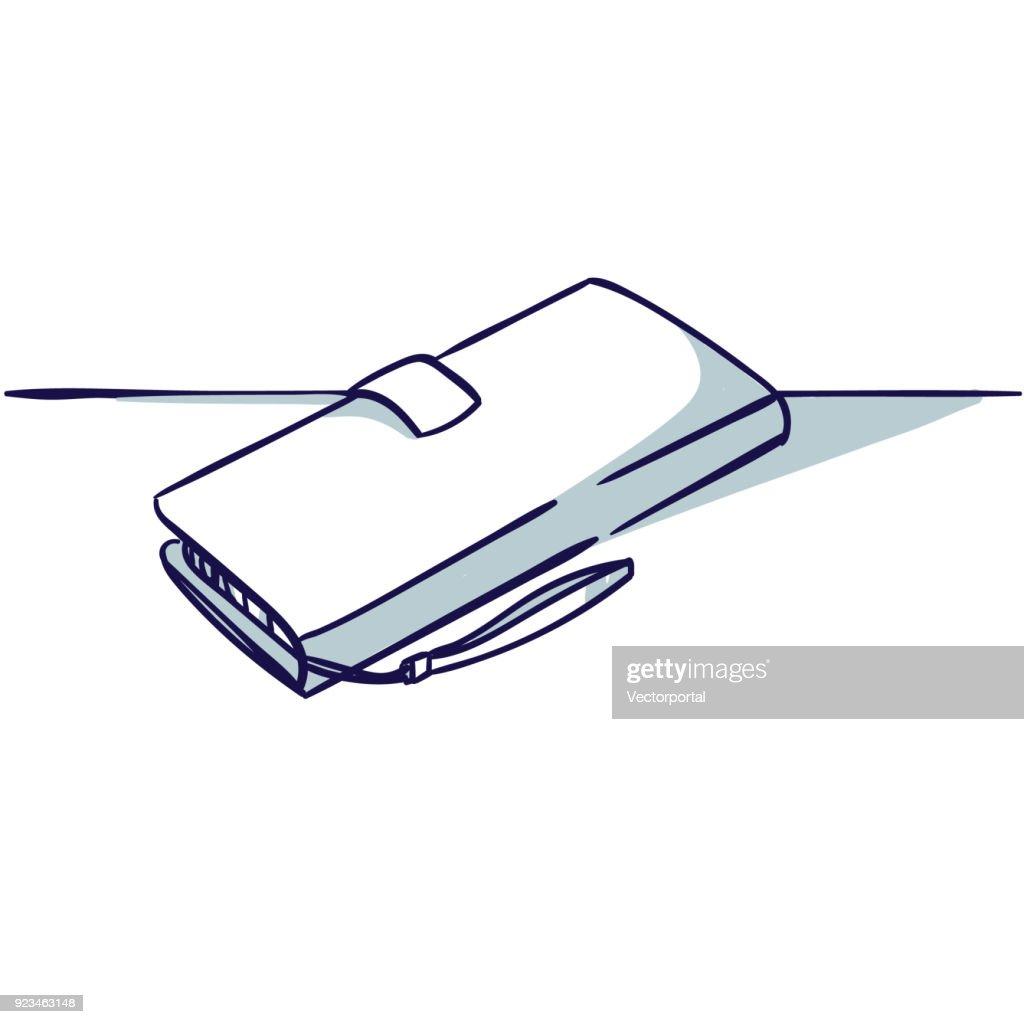 Notecase isolated on the white background.
