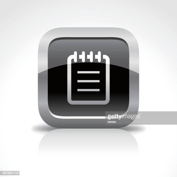 Notepad Glossy Button Icon