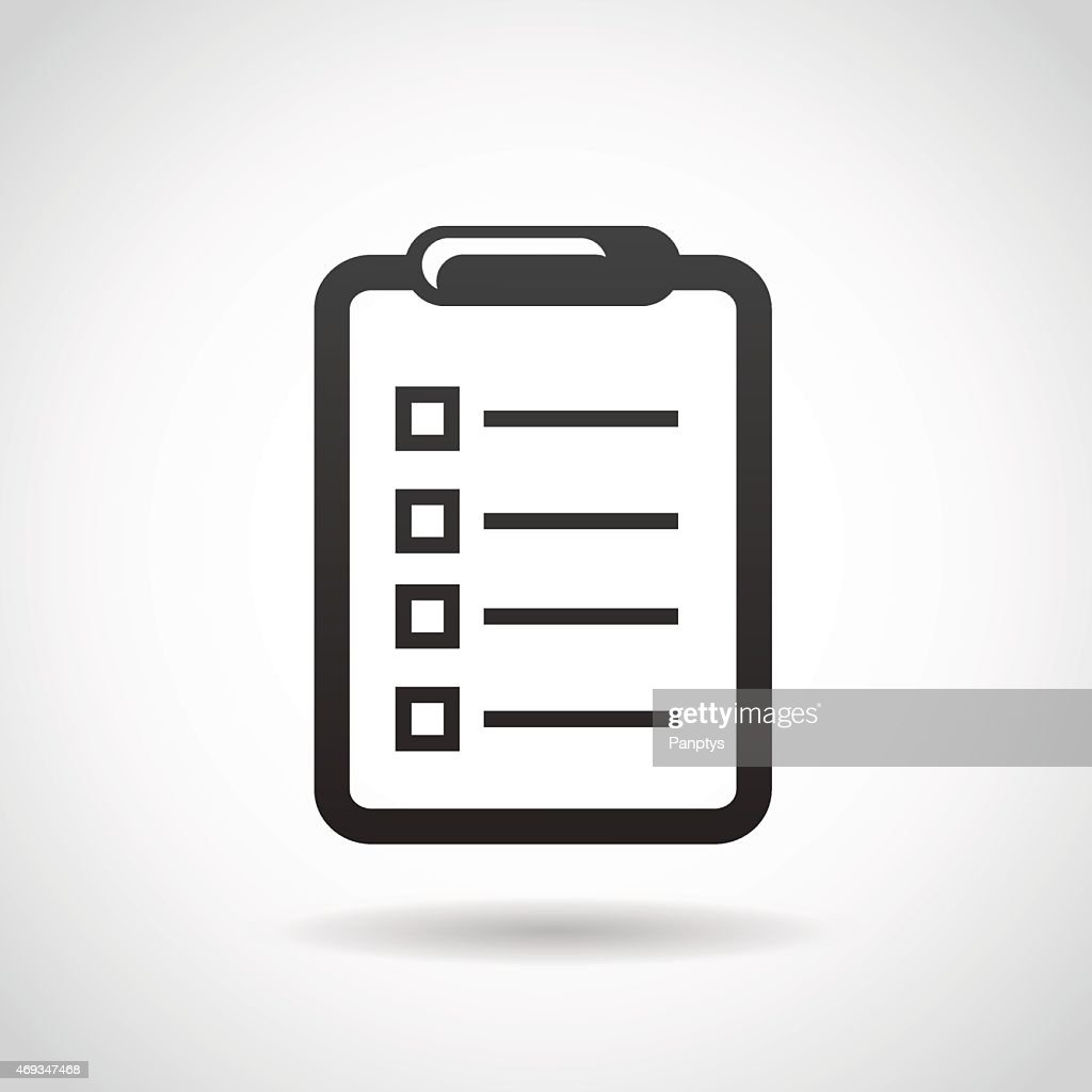 Notepad icon isolated on white background.