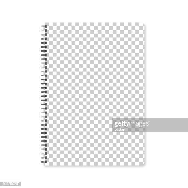 notepad template with blank background - spiral stock illustrations