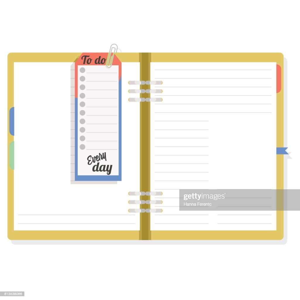 Notepad with to do list. To note the important.