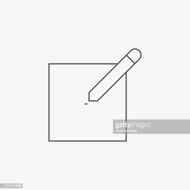 ilustrações, clipart, desenhos animados e ícones de ícone das notas - preencher um formulário